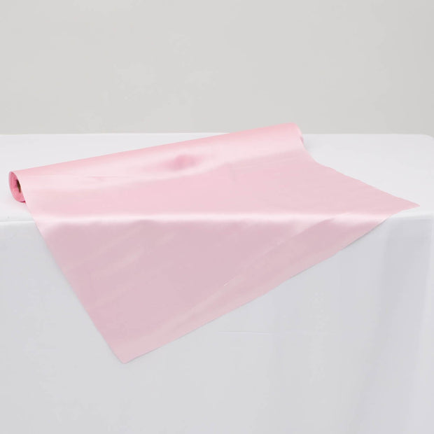 Clearance Satin Fabric Roll - Light Pink