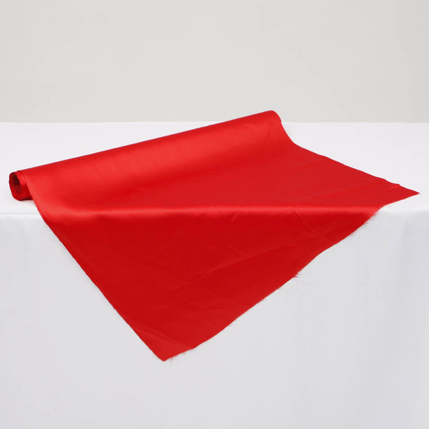 Clearance Satin Fabric Roll - Red