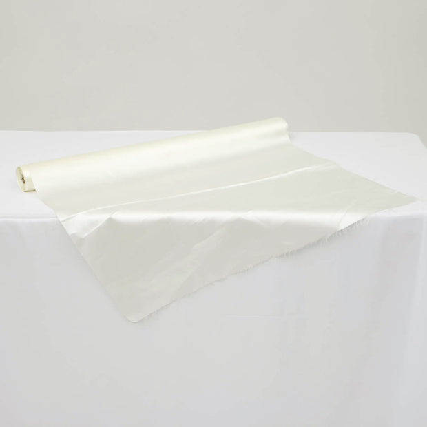 Clearance Satin Fabric Roll - Ivory