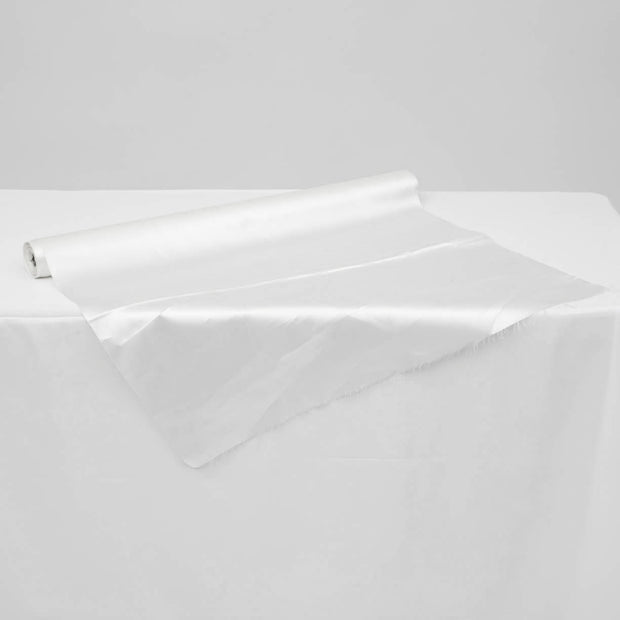 Satin Fabric Roll - White