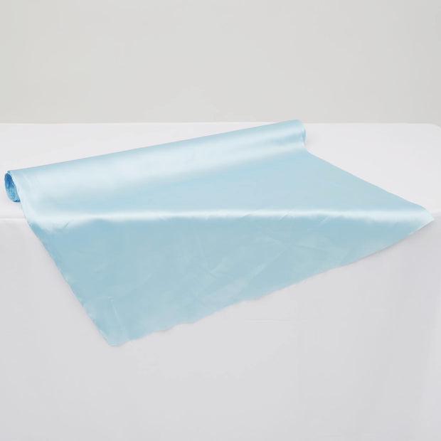 Clearance Satin Fabric Roll - Sky Blue