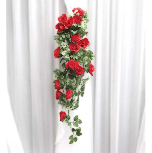 Artificial Red Rose Bouquet In Setting 1