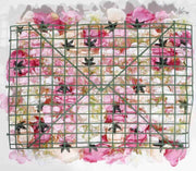 Flower Wall - Rose & Hydrangea (Pink, White, Peach) Backing