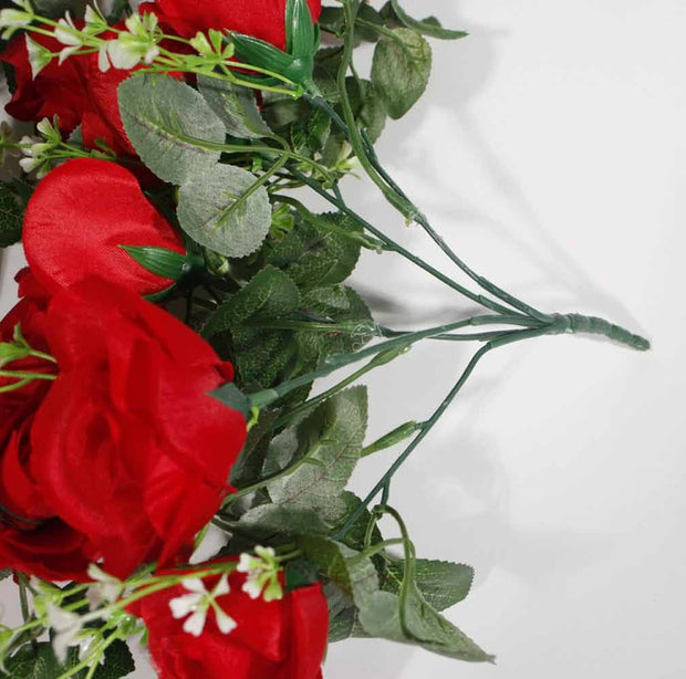 Artificial Red Rose Bouquet Handle