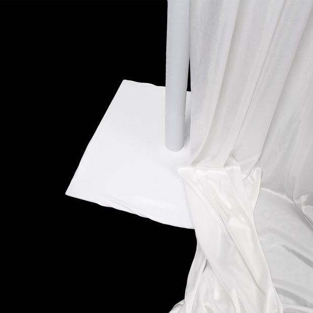 Lycra Spandex Upright Pole Cover - White. Optional Baseplate Covers