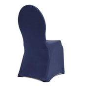 Navy Lycra Chair Covers (190gsm) Back