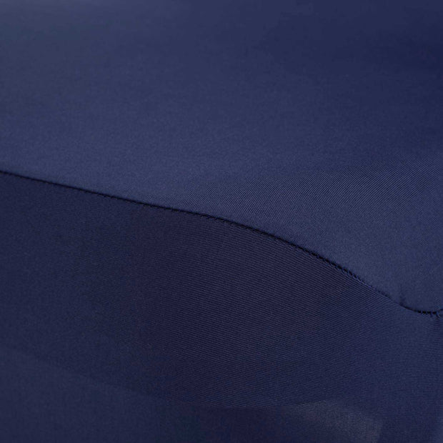 Navy Lycra Chair Covers (190gsm) Close Up