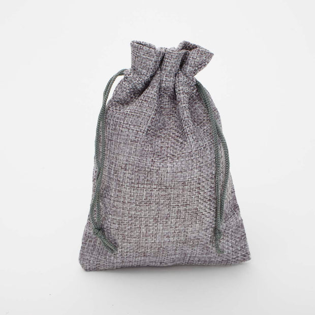Wedding Favour Bags / Bomboniere - Silver / Grey Hessian Colour