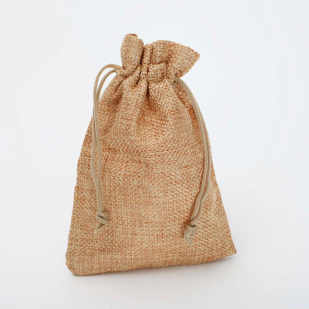 Faux Hessian Favour Bag - Hessian Colour - 10x14cm