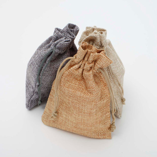 Faux Hessian Favour Bag - Beige - 10x14cm All Colours
