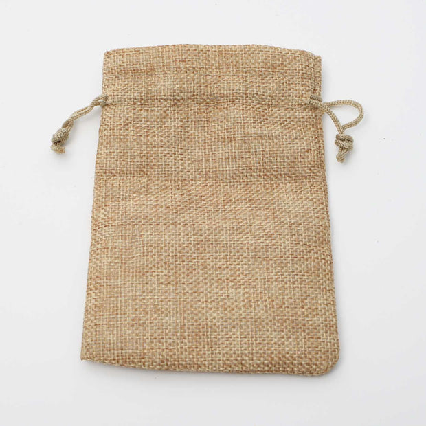 Faux Hessian Favour Bag - Hessian Colour - 10x14cm Flat