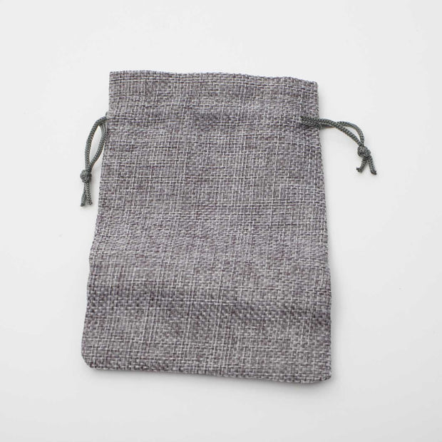 Faux Hessian Favour Bag - Grey - 10x14cm