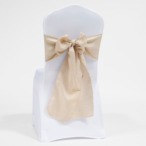 Soft Faux Hessian Chair Sashes