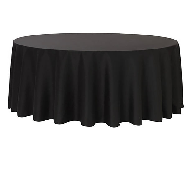 Black Round Tablecloth (220cm)
