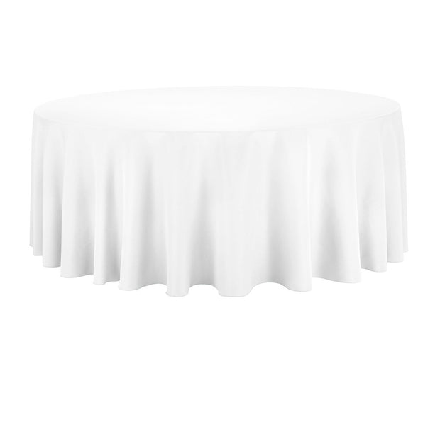 White Round Tablecloth (220cm)