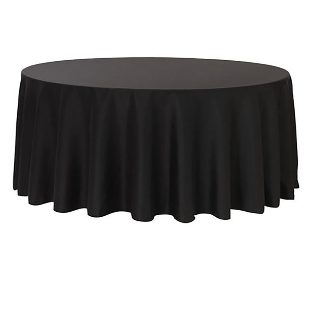 Black Round Tablecloth (260cm)