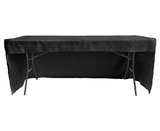 Black 3 Sided Fitted Tablecloth 6ft