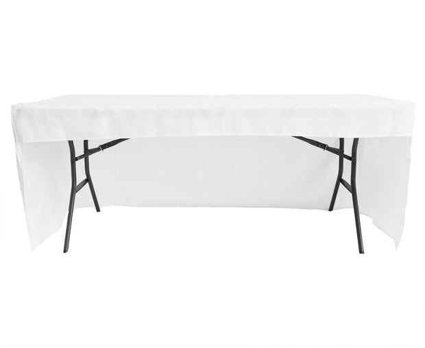 White 3 Sided Fitted Tablecloth (6ft)