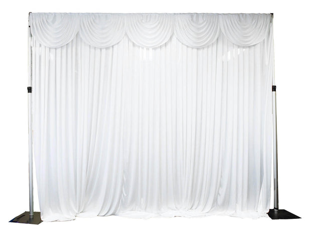 White Ice Silk Satin Backdrops - 3 meters length x 3 meters high