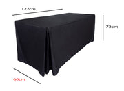 Black Fitted Tablecloth (4ft) Dimensions