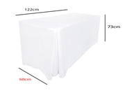 White Fitted Tablecloth (4ft) Dimensions