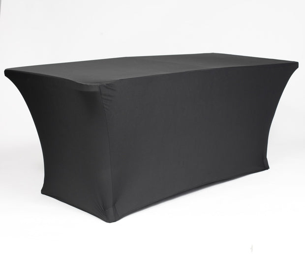 Black Lycra Fitted Tablecloth (6ft)