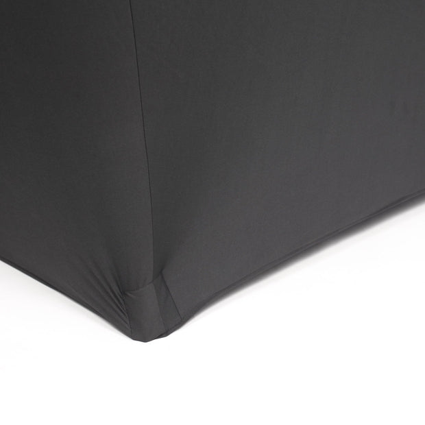 Black Lycra Fitted Tablecloth (6ft) Edging to the ground