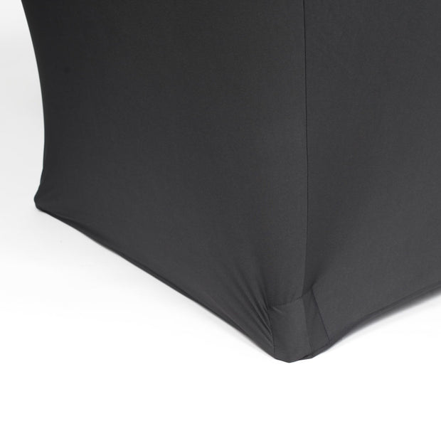 Black Lycra Fitted Tablecloth (6ft) Ends to the ground