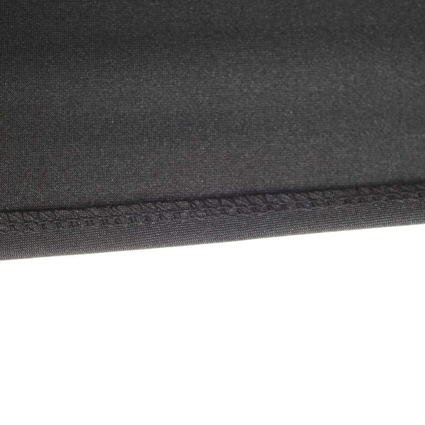 Black Lycra Fitted Tablecloth (6ft) Strong Overlocked Edging