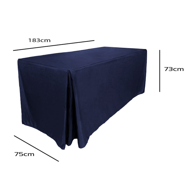 Navy Blue Fitted Tablecloth (6ft) Dimensions