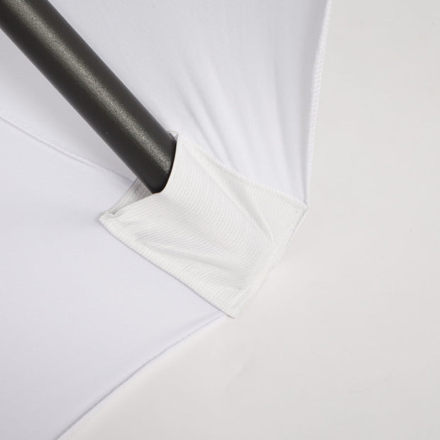 White Lycra Fitted Tablecloth (6ft) Elastic Foot Pocket