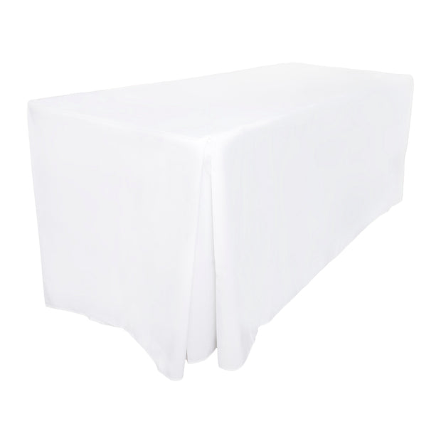White Fitted Tablecloth (6ft)