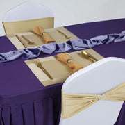 Gold and purple Event table and Chair Setup