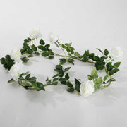 White Rose (6cm) Artificial Flower Vine - 1.6m