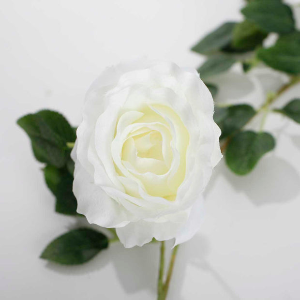White Rose (6cm) Artificial Flower Vine - Close Up