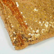 Gold Sequin Tablecloth 125x240cm Close