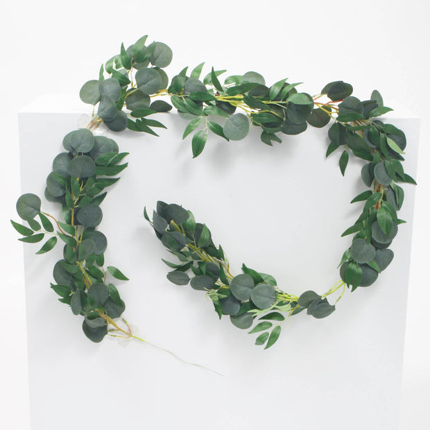 Artificial Willow and Eucalyptus Leaf Garland