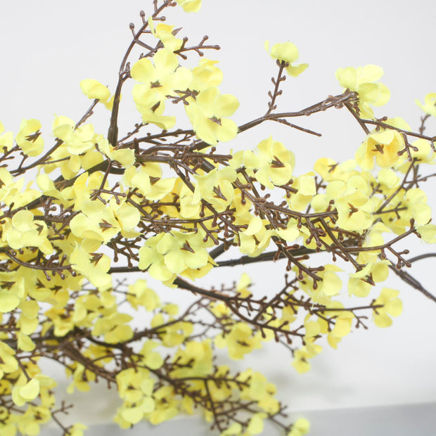 Large Cherry Blossom Branch - Yellow (1.1m) Close Up
