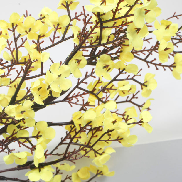 Small Cherry Blossom Branch - Yellow (50cm)