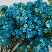 Baby Breath Bouquet Premium - Light Blue (60cm) Close