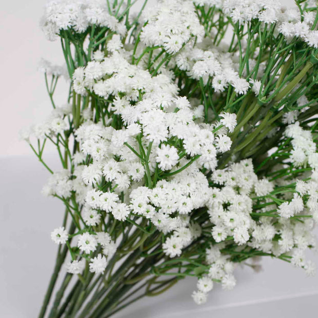 Baby Breath Bouquet Premium - White (60cm) Close B