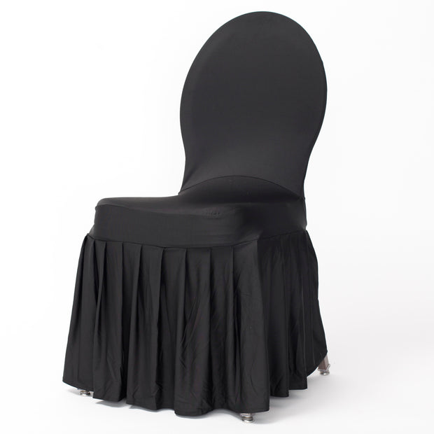 Princess Black Lycra Chair Covers (210gsm)