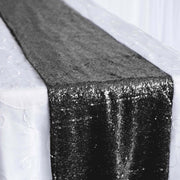 Sequin Table Runner - Black