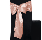 Satin Chair Sashes - Blush