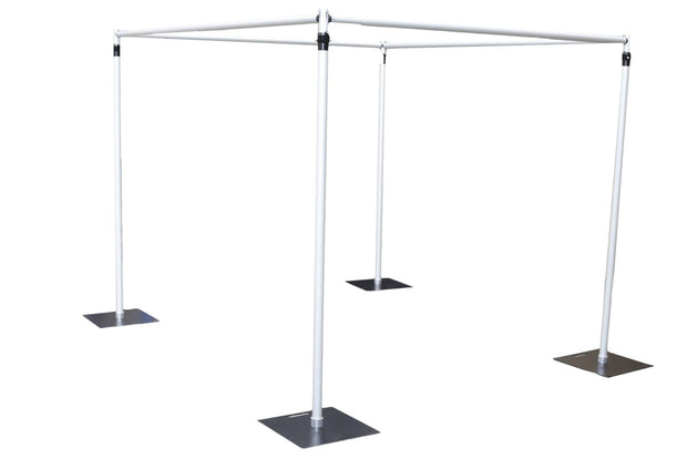 Stand Set for 6mx3m Backdrop Example Cube Shape. Extra Parts Sold Separately