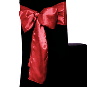 Satin Chair Sashes - Burgundy
