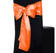 Satin Chair Sashes - Orange