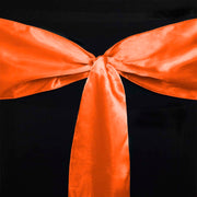 Satin Chair Sashes - Orange Different Tie Style