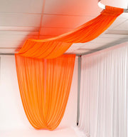 Ceiling Drape Ice Silk Satin Curtain