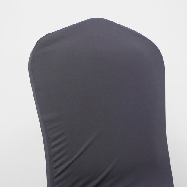 Lycra Chair Covers (Toppers) - Dark Grey Back